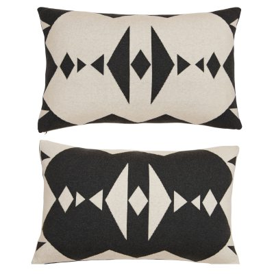 Bild av Hopi kudde, grå/vit