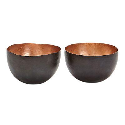 Form Tall skål 2-pack, koppar