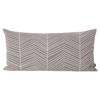 Herringbone kudde grå