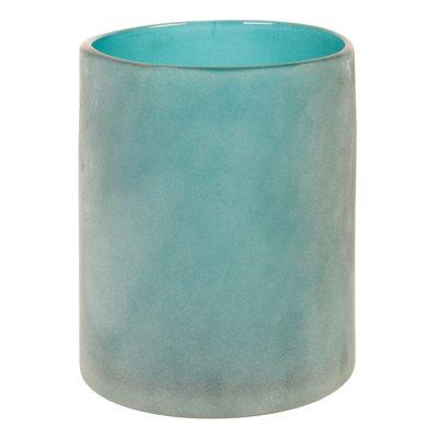 Glas ljuslykta L, blå thumbnail