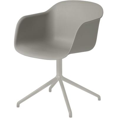 Fiber Swivel stol grå