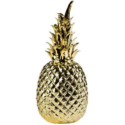 Pineapple staty guld
