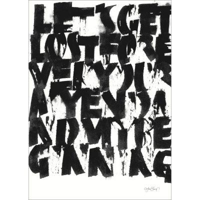 Bild av Get Lost poster 50x 70, svart