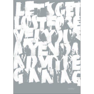 Bild av Get Lost poster 70x 100, grå