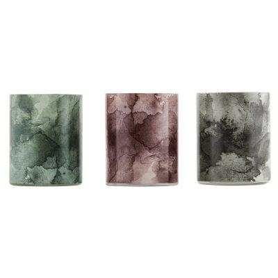 Aquarelle ljuslykta 3-pack