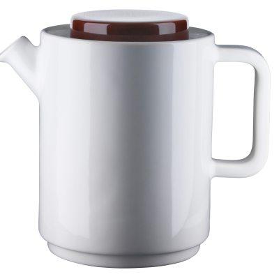 Café kaffekanna L vit kanna/brunt lock