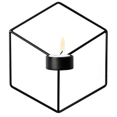 Pov väggljushållare svart