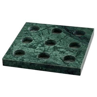 Bild av 9 T-ljusstake, grön marmor