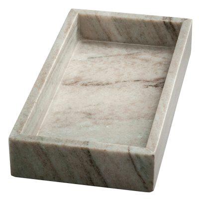 Marble Tray rektangulär brun marmor