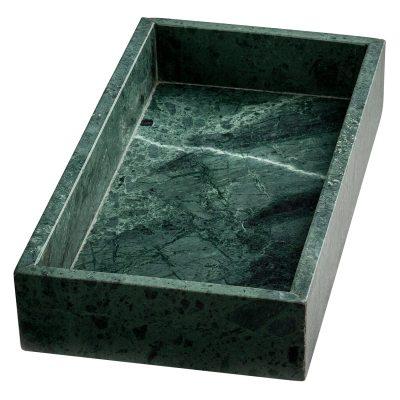 Marble Tray rektangulär grön marmor