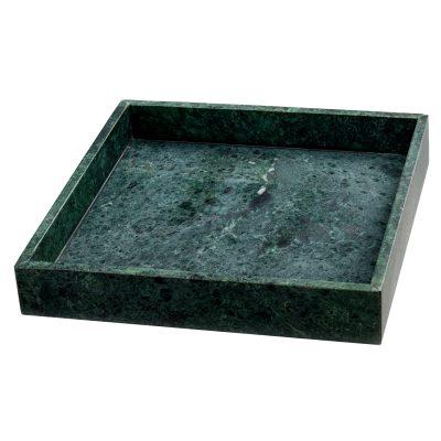 Marble Tray fyrkantig grön marmor