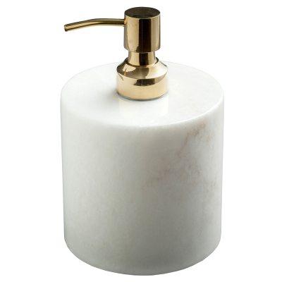 Tvålpump vit/mässing