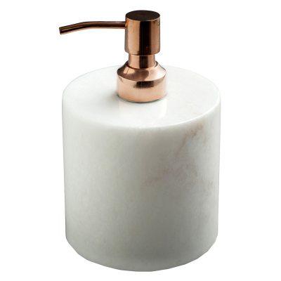Tvålpump vit/koppar