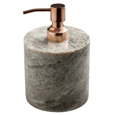 Tvålpump brun marmor/koppar