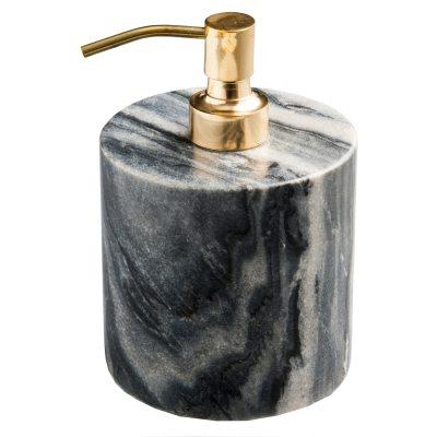 Tvålpump grå marmor/mässing