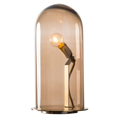 Speak Up! bordslampa S brun/mässing