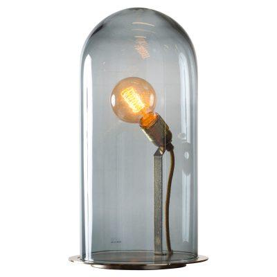 Bild av Speak Up! bordslampa S, rökgrå/mässing