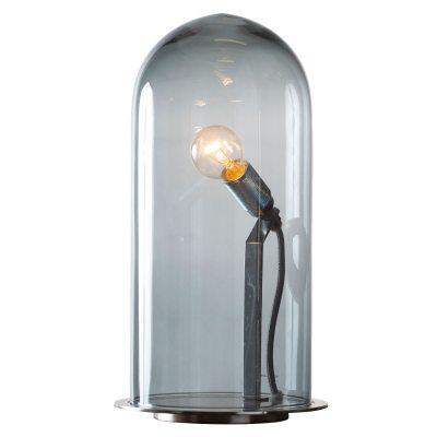 Bild av Speak Up! bordslampa M, rökgrå/krom