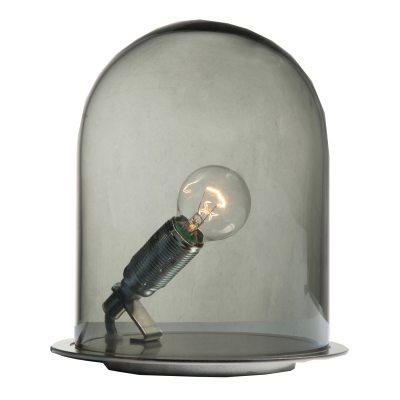 Bild av Glow in a Dome bordslampa S, rökgrå/krom