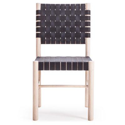Milo A22 stol natur/svart