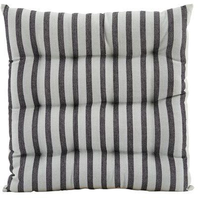 Stripe by Stripe dyna 35×35 svart/grå