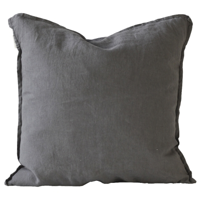 Bild av Washed Linen kuddfodral 50x 50, dark grey