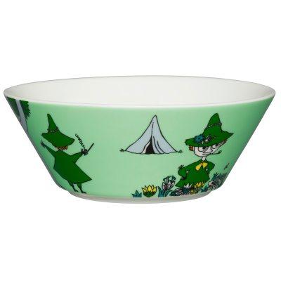 Mumin skål Snusmumriken grön