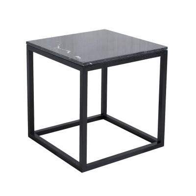 Bild av The Cube sidobord S, svart marmor/svart