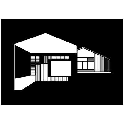 FJ House poster A3 svart/vit