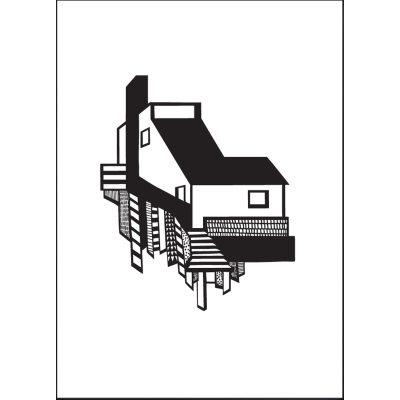 A House poster A3 svart/vit