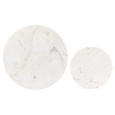Coaster underlägg 2-pack vit marmor