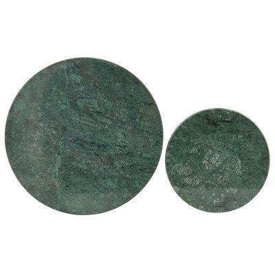 Coaster underlägg 2-pack grön marmor