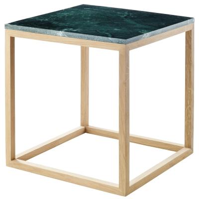 The Cube sidobord M grön marmor/ek
