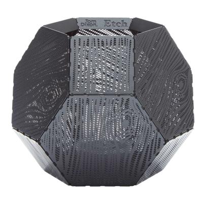 Bild av Etch Wood ljuslykta, svart