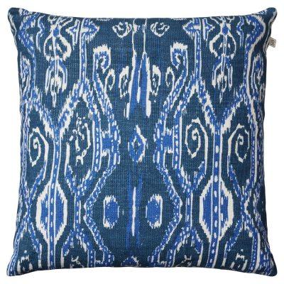 Ikat Madras kuddfodral M blå