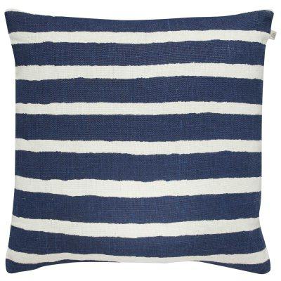 Bild av Block Stripe kuddfodral, blå/vit