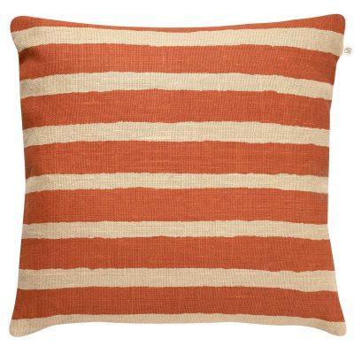 Block Stripe kuddfodral orange/beige