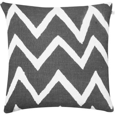 Zigzag Reverse kuddfodral M grå/vit