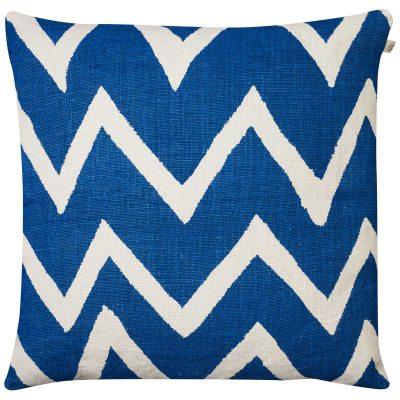 Zigzag Reverse kuddfodral M blå/vit