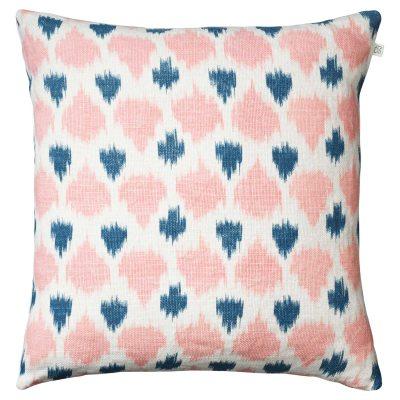 Ikat Assam kuddfodral rosa/blå