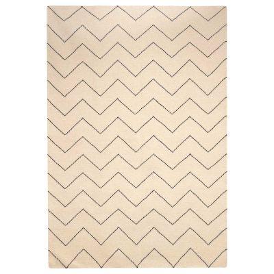 Zigzag matta 180×270 offwhite/indigo