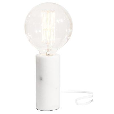 Bild av Marble bordslampa, vit marmor