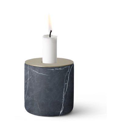 Chunk of Black Marble ljusstake L
