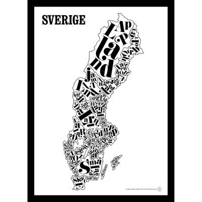 Sverigekarta poster