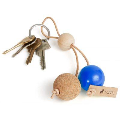 Key Sphere nyckelring blå