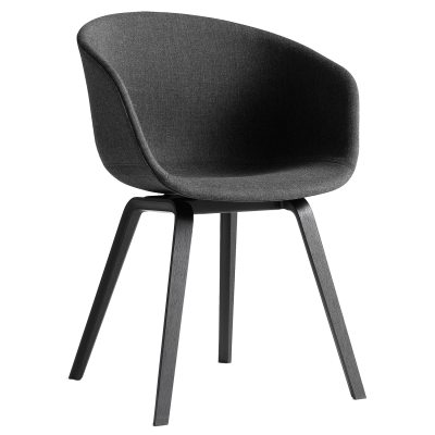 About a Chair 23, svarta ben/svart
