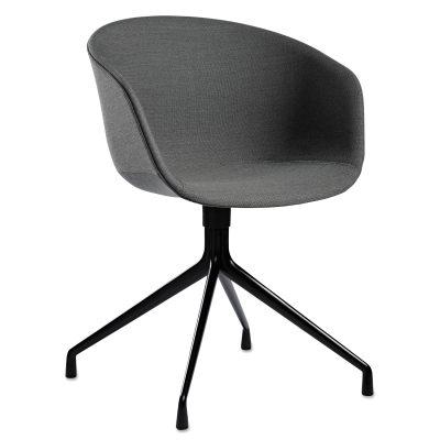 About a Chair 21, svarta ben/grå klädsel
