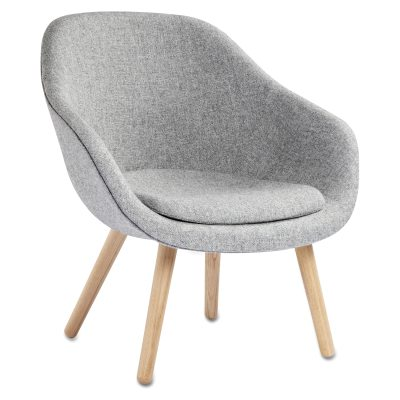 Bild av About a Lounge 82 fåtölj m kudde, grå/ek