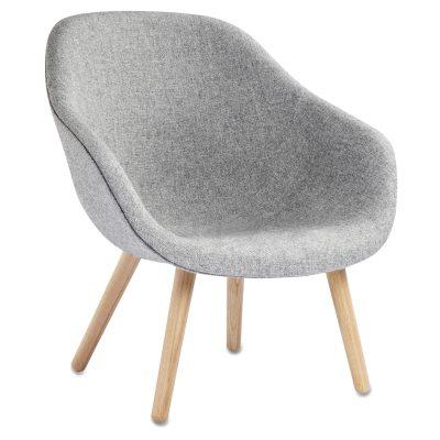 Bild av About a Lounge 82 fåtölj, grå/ek