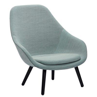 Bild av About a Lounge 92 fåtölj m kudde, ljusblå/svart